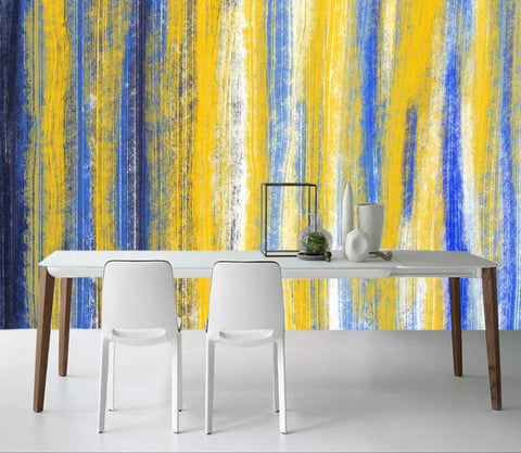 3D Abstract, Contrasting, Striped Wallpaper