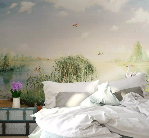 3D Only beautiful, Rural style Wallpaper