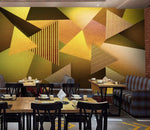 3D Abstract, Yellow-toned, Geometric Wallpaper