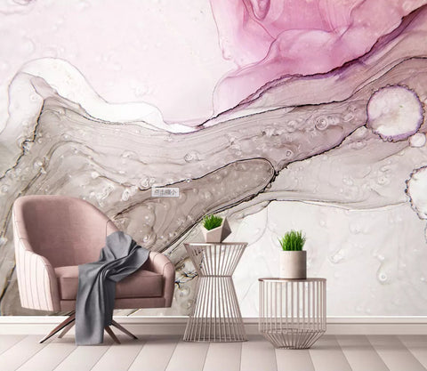 3D Simple, Abstract, Pink watercolor,Landscape Wallpaper