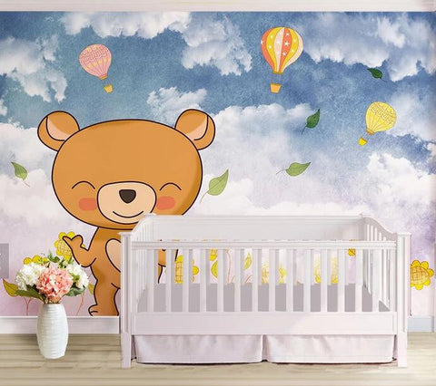 3D Kids, Cartoon, Cute bear Wallpaper-Nursery