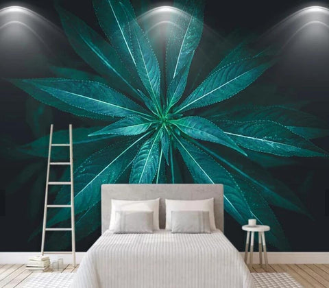 3D Realistic, Artistic conception, Green leaf Wallpaper