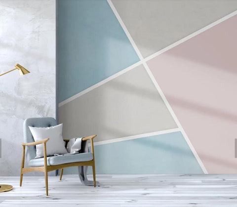 3D Minimalist, Single color, Abstract, Color block Wallpaper