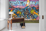 3D Colorful, Vibrant, Street graffiti Wallpaper