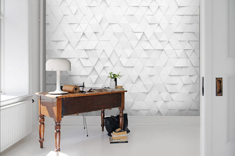 3D Pure white, Mosaic Wallpaper