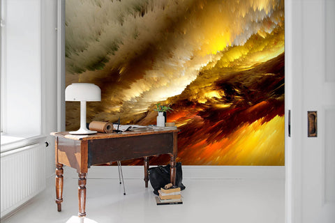 3D Spectacular, Warm-tones, Burning cloud Wallpaper