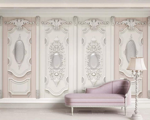3D classical style european exquisite wall decoration wallpaper removable self adhesive wallpaper wall mural vintage art peel and stick