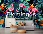 3D Cartoons, Rainforest, Flamingo Wallpaper