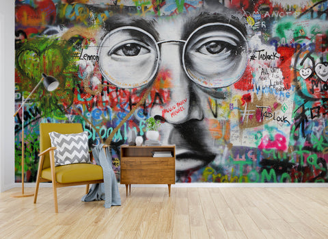 3D John lennon, Graffiti Wallpaper