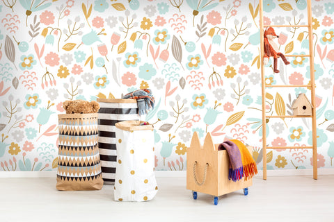 3D Kids, Cartoon, Lovely, Leaf Wallpaper-Nursery