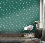 3D Green background, Floral Wallpaper