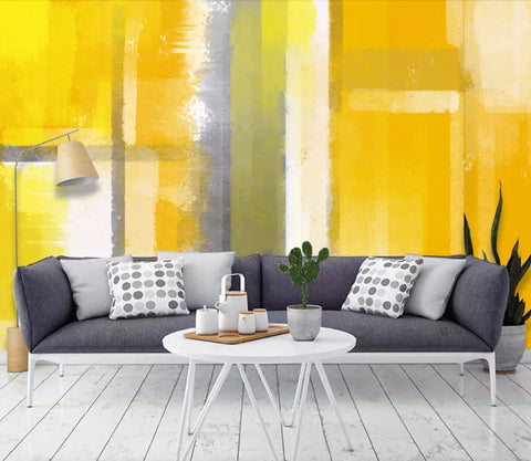 3D Abstract, Yellow painting Wallpaper