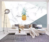 3D Abstract, Marbled background, Pineapple Wallpaper