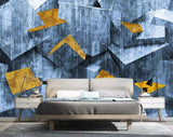 3D Abstraction, Optical illusion, Blue graphics Wallpaper