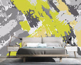 3D Abstract, Oil painting, Yellow, Color block Wallpaper