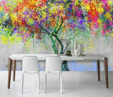3D Fantastic, Colorful tree Wallpaper
