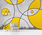 3D Abstract drawing, Round, Gold decoration Wallpaper