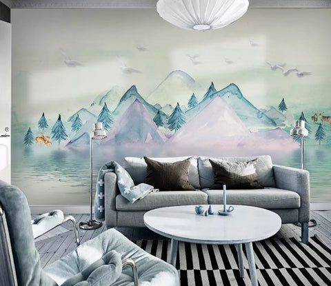 3D Watercolor, Fresh, Scenery Wallpaper