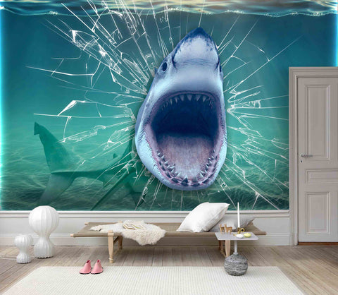 3D Cartoon, Fierce, Shark Wallpaper