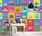 3D Cartoon, Colorful, Famous building Wallpaper