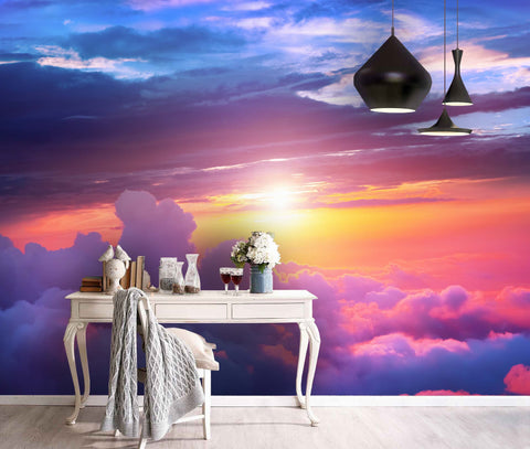 3D Colorful, Dreamy Sky, Cloud Wallpaper