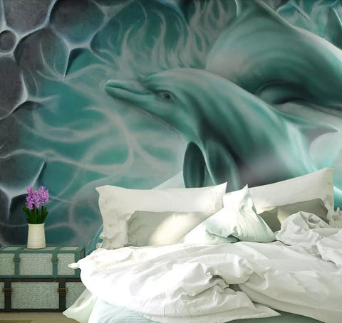 3D Waves, Dolphin Wallpaper