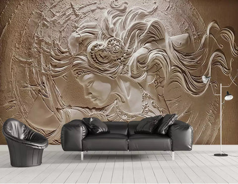 3D Classical, Relief, Beauty Wallpaper