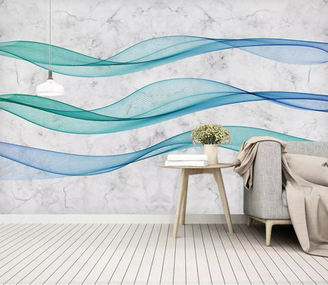 3D Abstract, Flowing lines Wallpaper