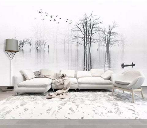3D Chinese style, Quiet, Lake Wallpaper