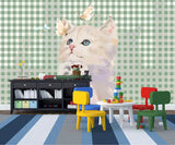 3D Kids, Cartoon, Cute cat Wallpaper-Nursery