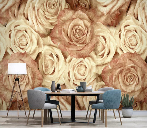 3D Vintage, Rose Wallpaper