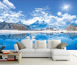 3D Natural scenery, Snow mountain Wallpaper