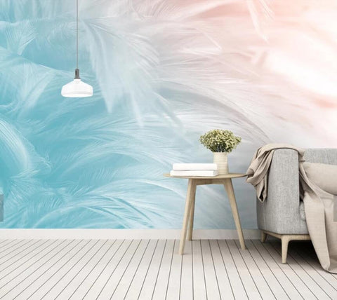 3D Minimalism, Fashion, Feather texture Wallpaper