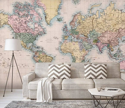 3D Detailed, world map Wallpaper