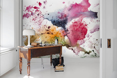 3D Colored, Splash-ink painting Wallpaper