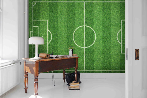3D Realistic, Wide, Soccer field Wallpaper