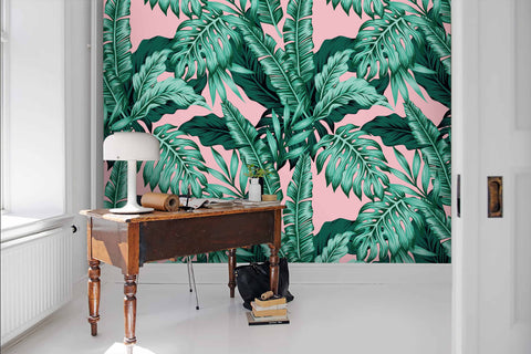 3D Tropical style, Hand-painted, Coconut tree Wallpaper