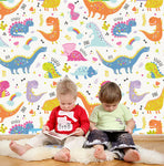 3D Kids, Cartoon Colorful, Dinosaur Wallpaper-Nursery