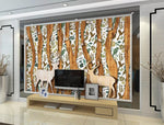 3D Wood grain, Woods, Elk Wallpaper