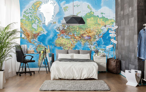 3D Details, Map of the world Wallpaper