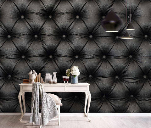 3D Black, Leathery texture Wallpaper