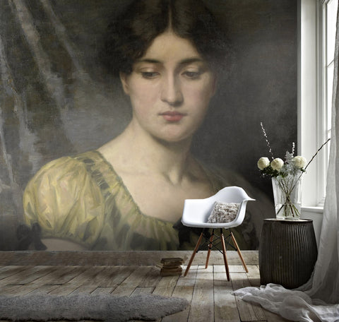 3D Oil painting, retro woman Wallpaper