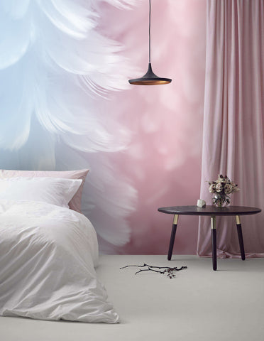 3D Watercolor, Soft feather Wallpaper