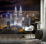 3D Dazzling, Gorgeous, City, Night scene Wallpaper