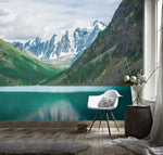 3D Spectacular, Green mountain,  River Wallpaper
