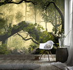 3D Mysterious, Forested landscape Wallpaper
