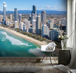 3D Seaside, City scenery Wallpaper