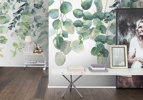 3D Watercolor, Spring, Sprouting branch Wallpaper