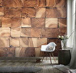 3D Damp, Wood grain Wallpaper