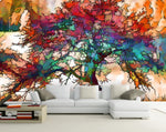 3D Colorful, Vibrant, Tree Wallpaper